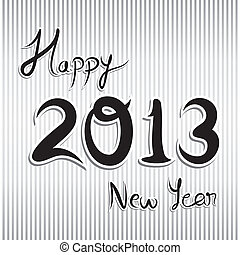 abstract writing with new year 2013