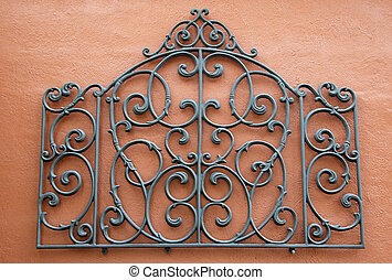 Abstract Wrought Iron - A Decorative Piece of Wrought Iron...