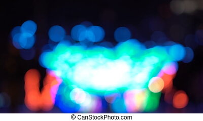 Abstract xmass tree lights of focus