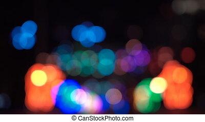 Abstract xmass tree lights of focus