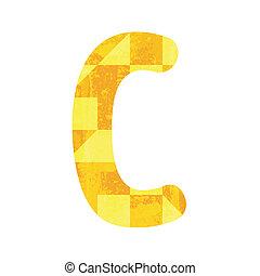 Abstract yellow alphabet C