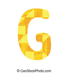 Abstract yellow alphabet G