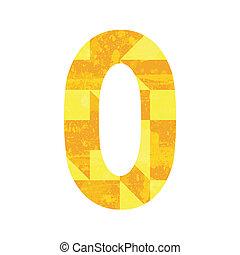 Abstract yellow alphabet O