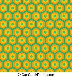 Abstract Yellow and Blue Pattern