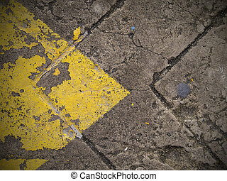 Abstract yellow arrow