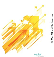 Abstract yellow arrows background wallpaper.