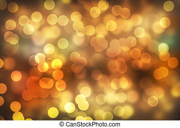 Abstract yellow background with bokeh lights
