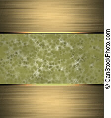 Abstract yellow background with scuffed, and gold ribbon. Design template. Design site