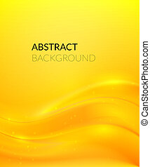 Abstract yellow background with smooth lines