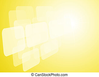 abstract yellow background with transparent forms
