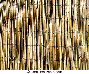 abstract yellow bamboo wall, construction details
