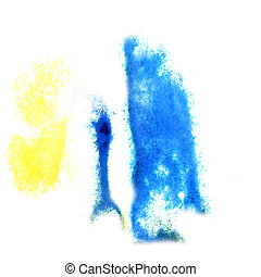 Abstract yellow ,blue watercolor background for your design insu