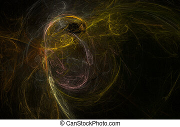 Abstract yellow blur background