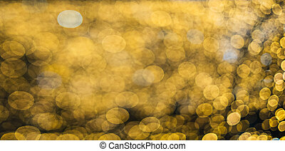 Abstract yellow blurred light background