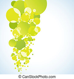 Abstract yellow bubble. EPS 8