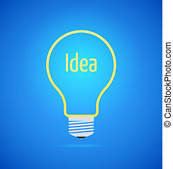 Abstract yellow bulb icon
