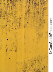 Abstract yellow cement wall