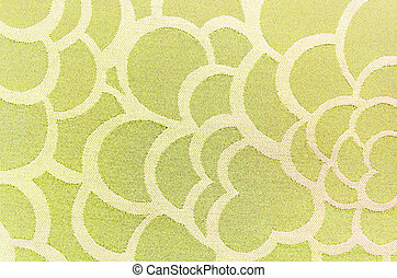 Abstract yellow circle fabric texture and background