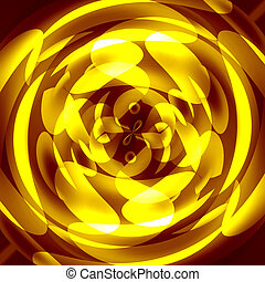 yellow circles on a dark background