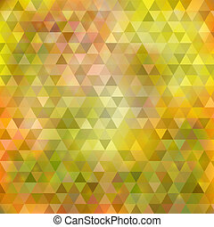 Abstract yellow green triangle background