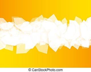 abstract yellow hexagonal design background