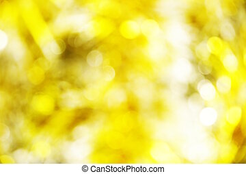 abstract yellow light bokeh background