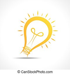 Abstract yellow light-bulb icon