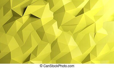 Abstract yellow low poly background
