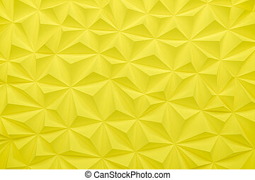 Abstract yellow low poly background with copy space 3d render