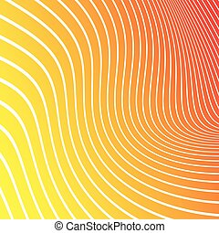 Abstract yellow, orange, red background with white lines. Vector illustration.