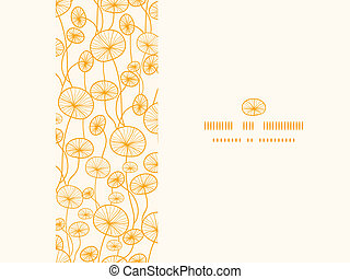 Abstract Yellow Plants Horizontal Seamless Pattern Background