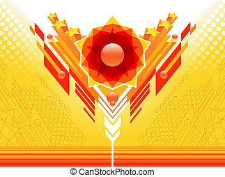 Abstract yellow-red design