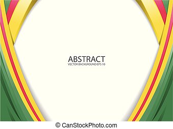 Abstract yellow red green modern background