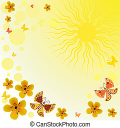 Abstract yellow spring background