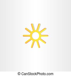abstract yellow stylized sun vector icon