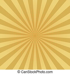Abstract yellow sun rays background. Vector.