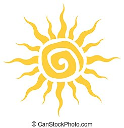 Abstract Yellow Sun Simple Design