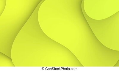 Abstract yellow waves motion background loop 4K