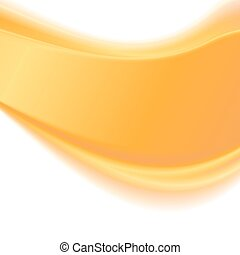 Abstract yellow wavy background. Vector illustration .