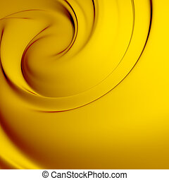 Abstract yellow whirlpool. Clean, detailed render. Backgrounds series.
