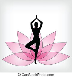 abstract yoga background