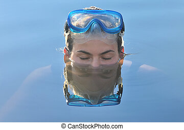 Abstract Young Woman with Eyes Reflexion - Abstract Portrait...
