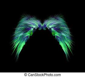 abstract, zacht, vederachtig, engel vleugels