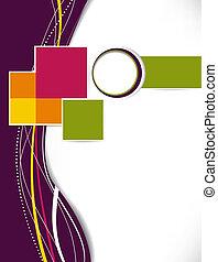 abstract, zakelijk, achtergrond., laag, template., informatieboekje , of, flyer