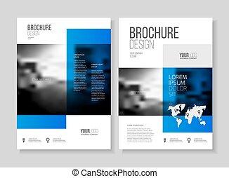 abstract, zakelijk, flyer, ontwerp, vector, mal, in, a4,...