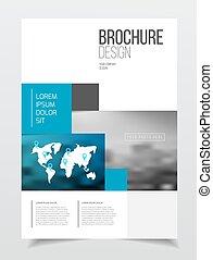 abstract, zakelijk, informatieboekje , ontwerp, vector, mal,...
