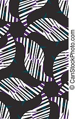 Abstract Zebra Stripes Pattern