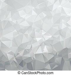 abstract, zilver, veelhoek, driehoeken