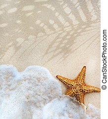 abstract, zomer, strand, achtergrond