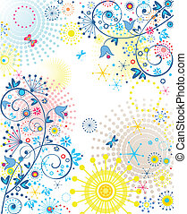 abstract, zomers, spandoek
